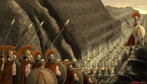 W wąskim przesmyku wojowniczy Spartanie stawili zaciekły opór Persom, choć wiedzieli, że ich walka jest z góry skazana na porażkę.