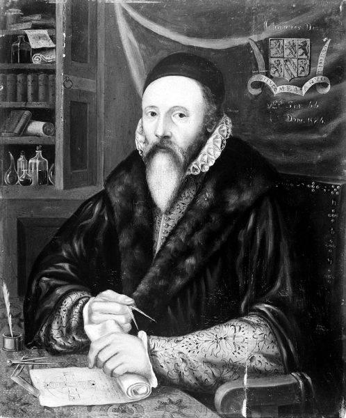 """Dee był """"w całej Europie uważany za uczonego matematyka, a nawet za księcia matematyków swej epoki""""."""