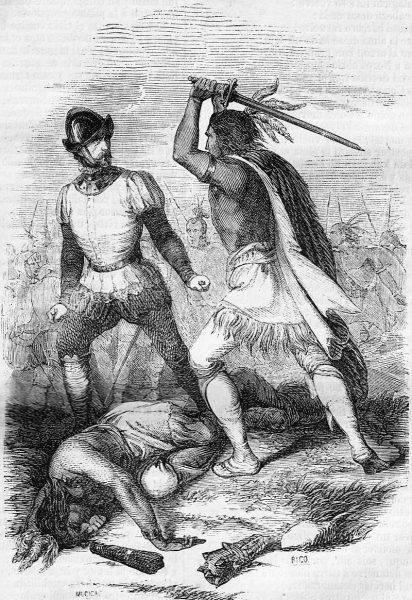 Ci Hiszpanie, którzy żywi wpadali w ich ręce, byli mordowani, ich serca zjadane, a czaszki konserwowane i przechowywane jako trofea.