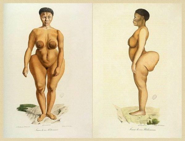 Symbolem uprzedmiotowienia ludzkich eksponatów stała się Saartjie Baartman, czarnoskóra niewolnica z farmy południowoafrykańskich Burów.
