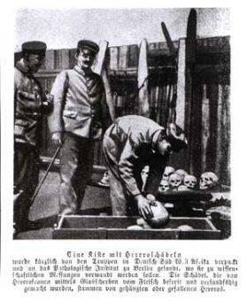 Takie osoby były zabijane, ich głowy odcinano i konserwowano w formalinie, następnie jako eksponaty badawcze wysyłano do Berlina