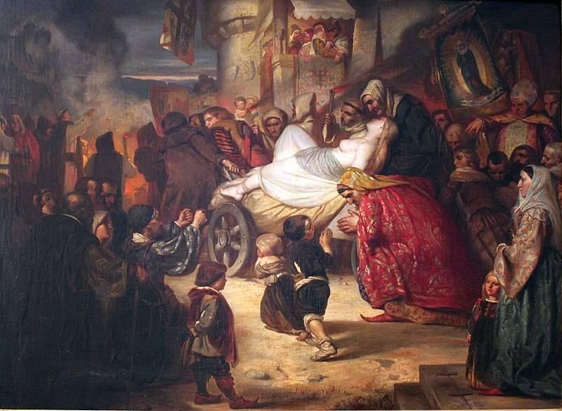 """Określenie """"do grobowej deski"""" w tym przypadku brzmi wyjątkowo dosłownie. Słowiańskie żony umierały wraz ze swoimi mężami. (il. poglądowa)"""