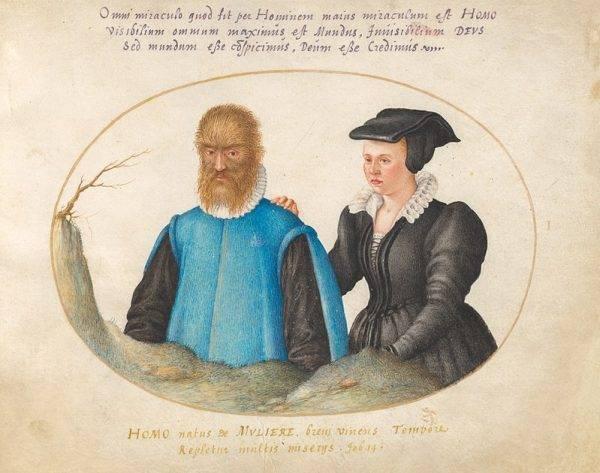 Katharina Raffelin ze swoim mężem Petrusem Gonsalvusem.