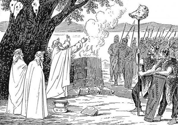 Wysłannik kalifa na własne oczy oglądał wielodniowe przygotowanie i pogrzeb bogatego wielmoży, podczas którego rytualnie zamordowano nałożnicę, gotową pójść na tamten świat ze swoim panem.