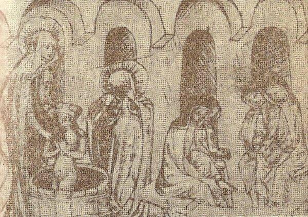 Św. Jadwiga obmywa swego wnuka Bolesława Rogatkę