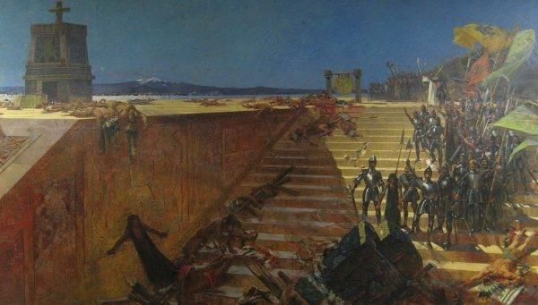 Montezuma zgodził się na budowę katolickiej kaplicy w Tenochtitlán i zaprzestanie krwawych obrzędów.