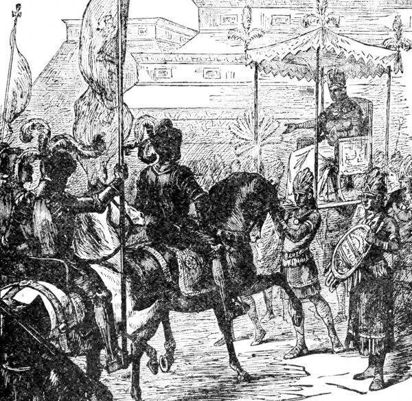 Spotkanie Corteza i Montezumy