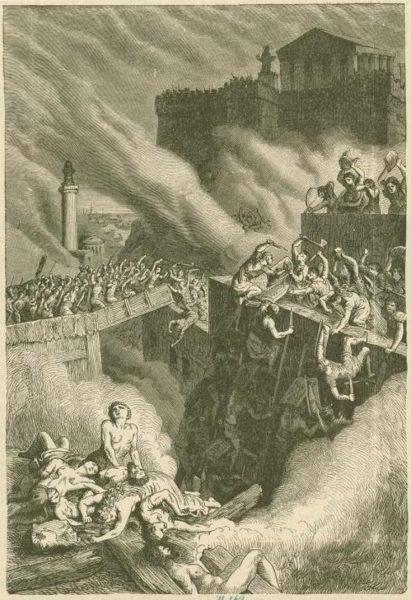 Scypion kazał torować drogę swojej armii, paląc i burząc domy. Walki na ulicach trwały jeszcze sześć długich dni, podczas których część żołnierzy oddelegowana została do wynoszenia trupów z miasta.
